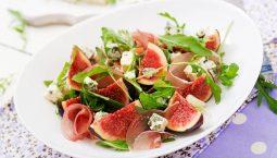 salada presunto com figos